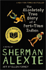 book cover of The Absolutely True Diary of a Part-Time Indian by Sherman Alexie