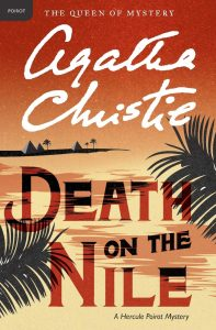 Book cover with palm branches and the title Death on the Nile