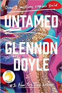 image of mixed paint with words Untamed Glennon Doyle