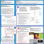 """A poster from the Academy for Excellence in Engineering 2019 poster session. The title reads """"Cross-disciplinary intervention into engineering writing curriculum."""""""