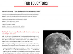 WHIMC Astronomy Learning Module