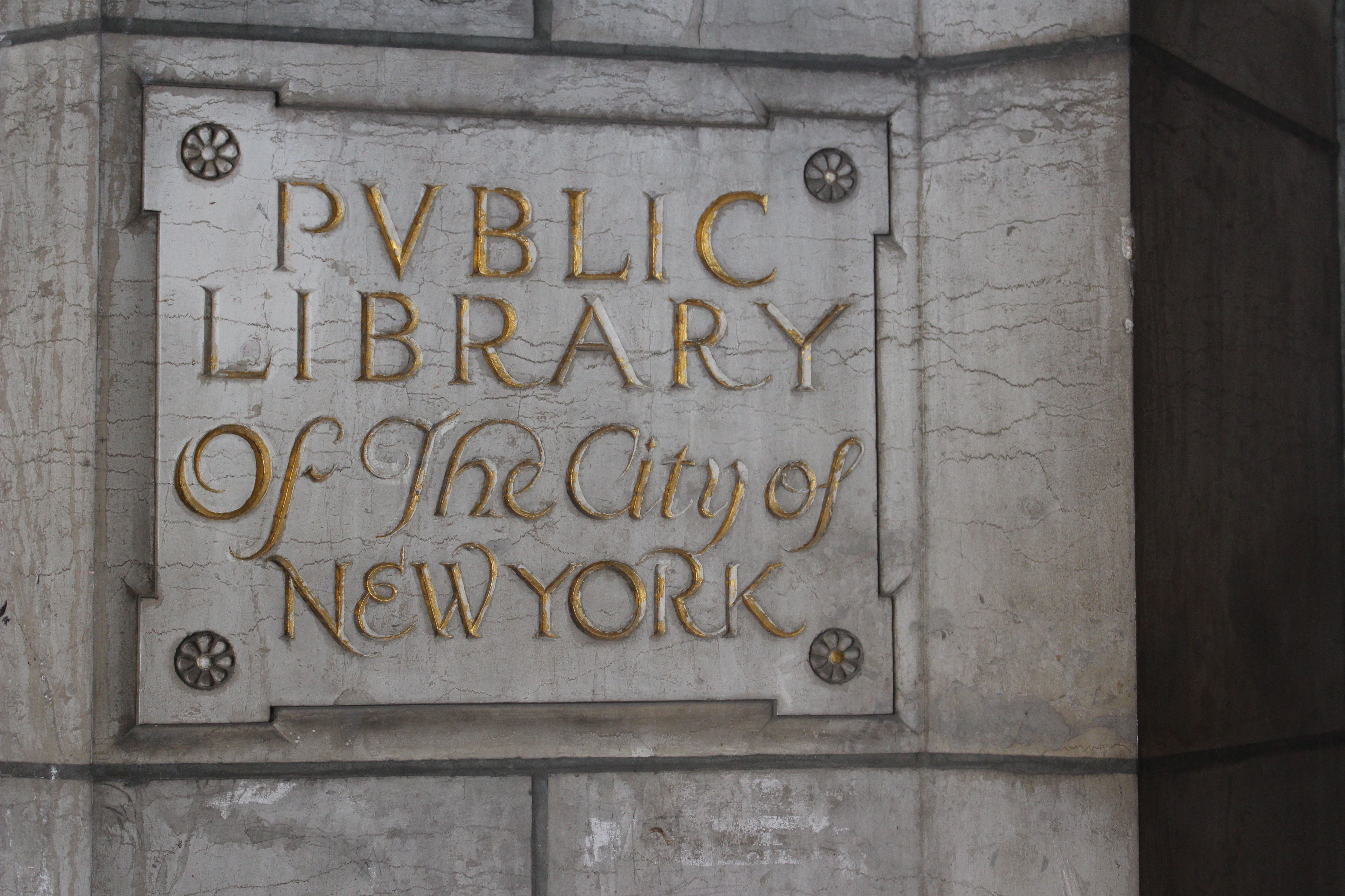 Engraving of New York Public Library