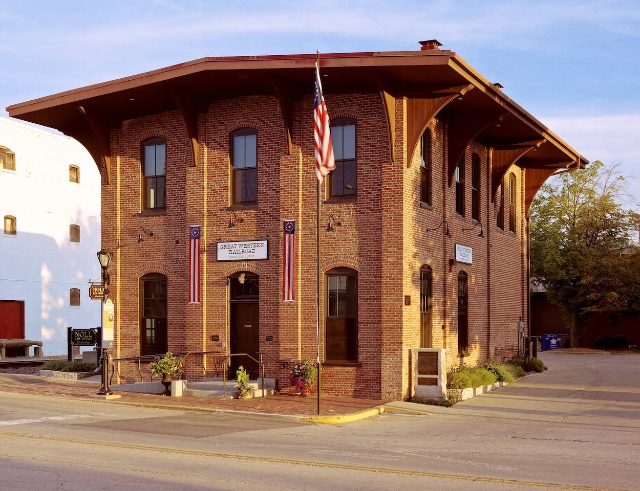 Train depot in Springfield