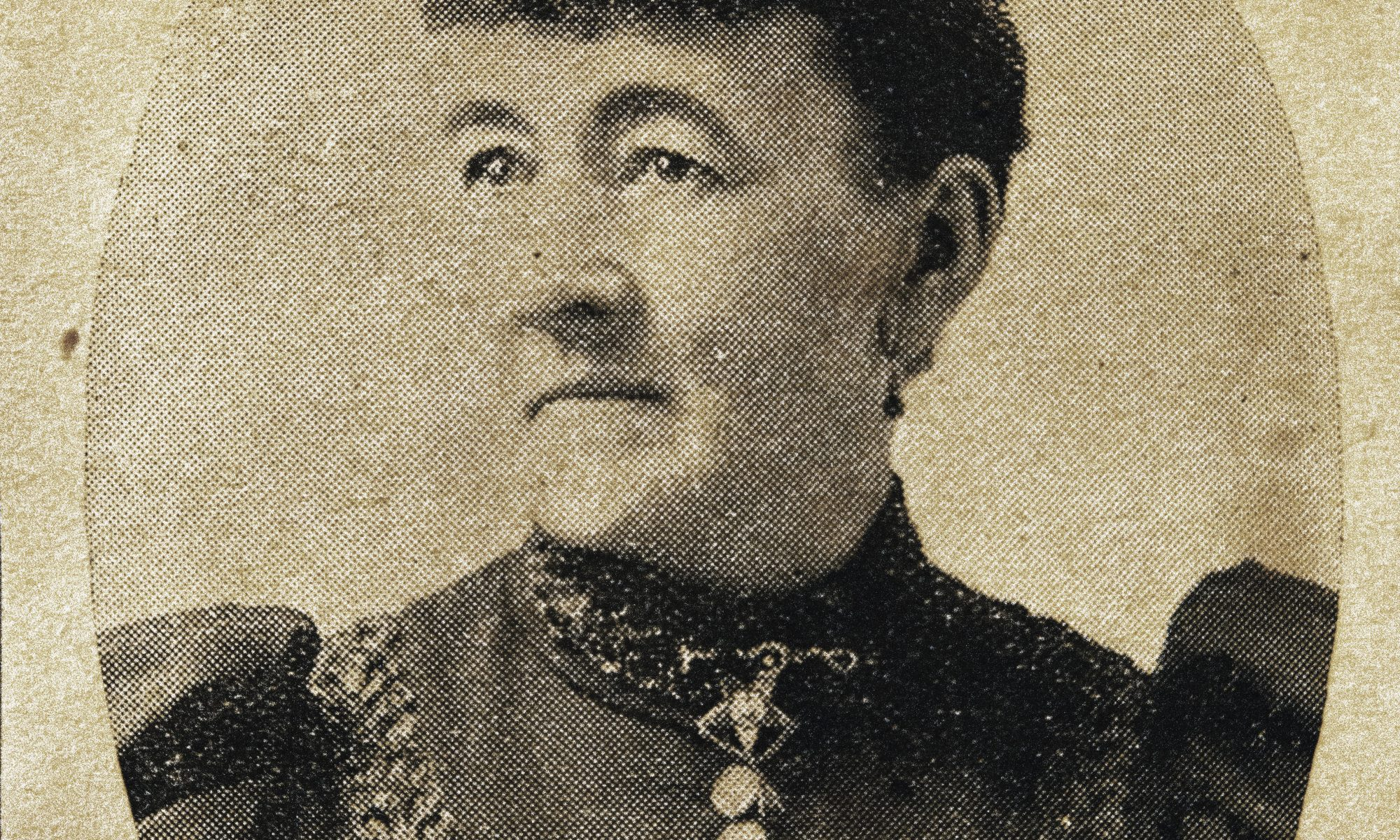 Photograph of Elizabeth C. Morgan in an 1895 newspaper