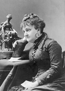 Photograph of Myra Bradwell, dated 1870