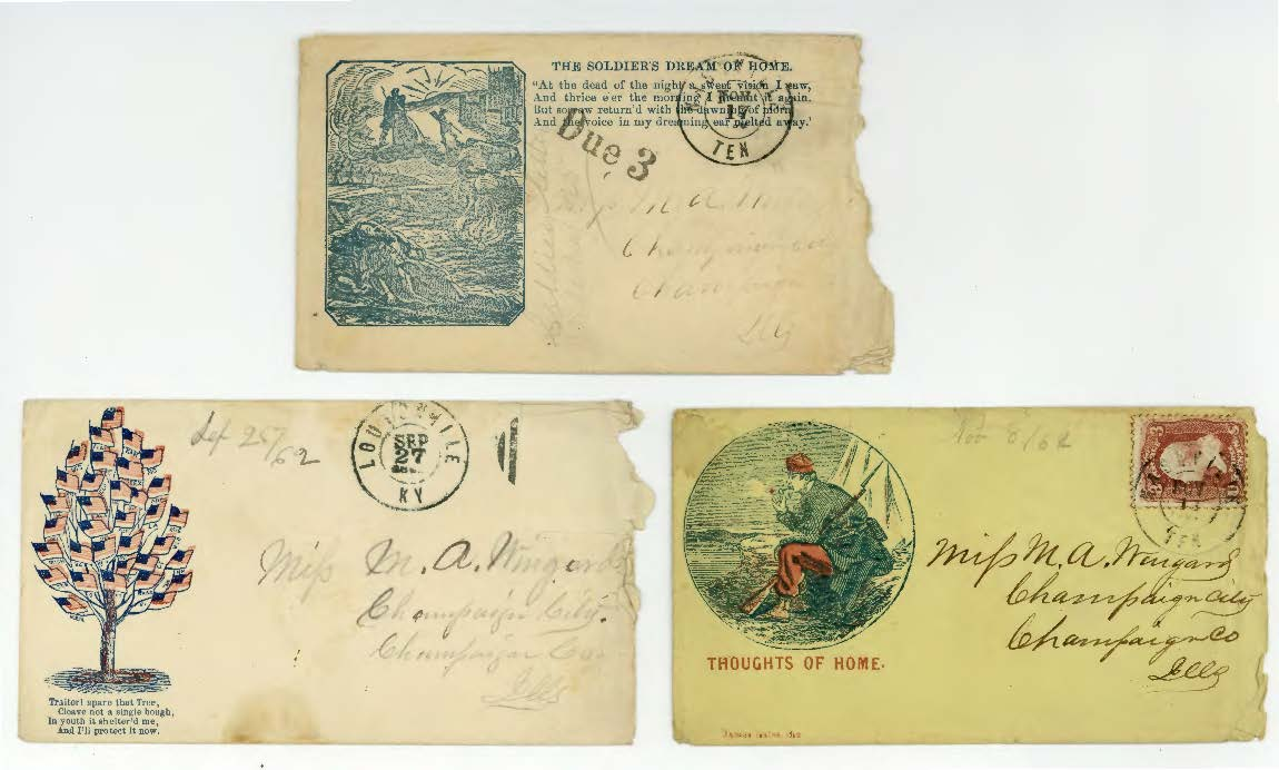 Civil War envelopes from Benjamin Franklin Wingard correspondence