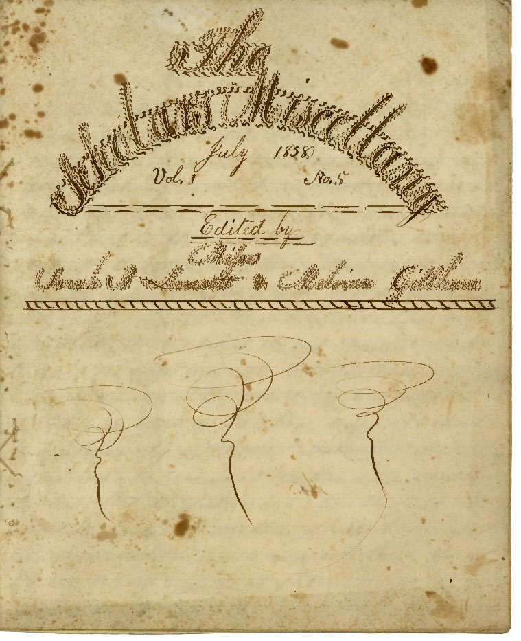 """The Scholar's Miscellany,"" Sarah E. A. Brown School Notebook, 1857-1858"