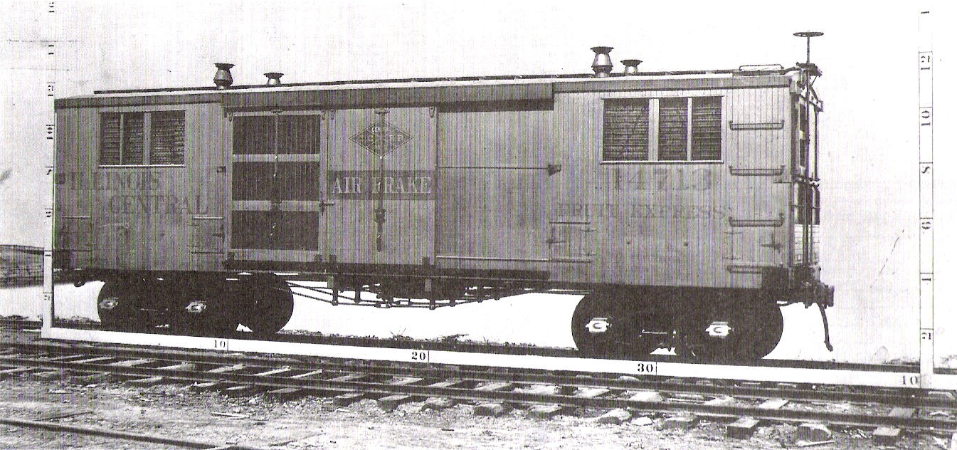 Illinois Central Railroad #14713, a ventilated fruit car dating from 1893.