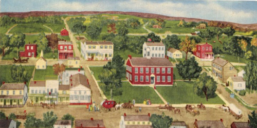 """Vandalia in 1836"" by John Matthew Heller, 1954"