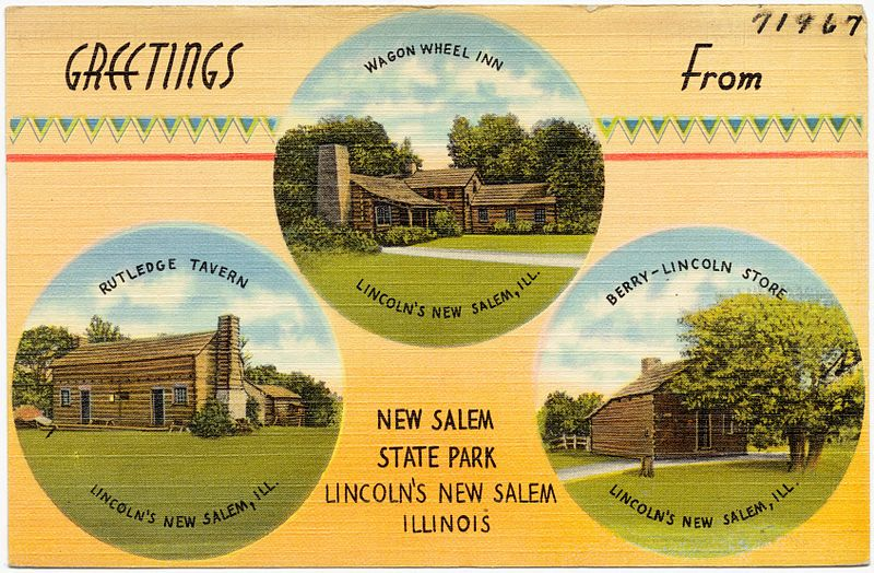 New Salem State Park Postcard (PD)