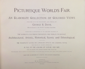 Case 1: Book of illustrations of the World's Columbian Exposition, 1894. (Title Page)