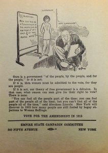 "Empire State Campaign Committee flyer, 1915, ""Vote for the Amendment in 1915"""