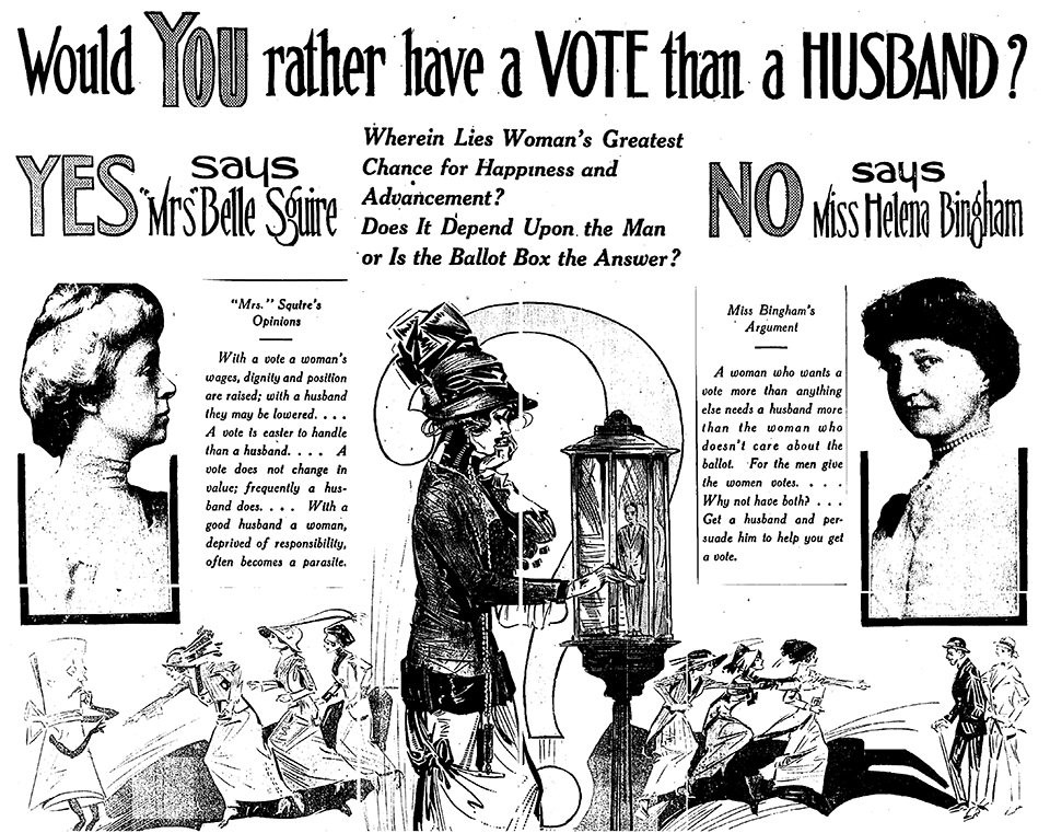 """Would YOU rather have a VOTE than a HUSBAND?"""