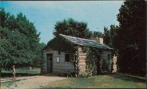 Postcard depicting the Lincoln-Berry Store in Lincoln's New Salem