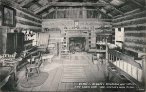 Postcard of Doctor F. Regnier's Residence and Office at Lincoln's New Salem