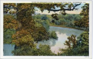Postcard depicting the Sangamon River at Lincoln's New Salem
