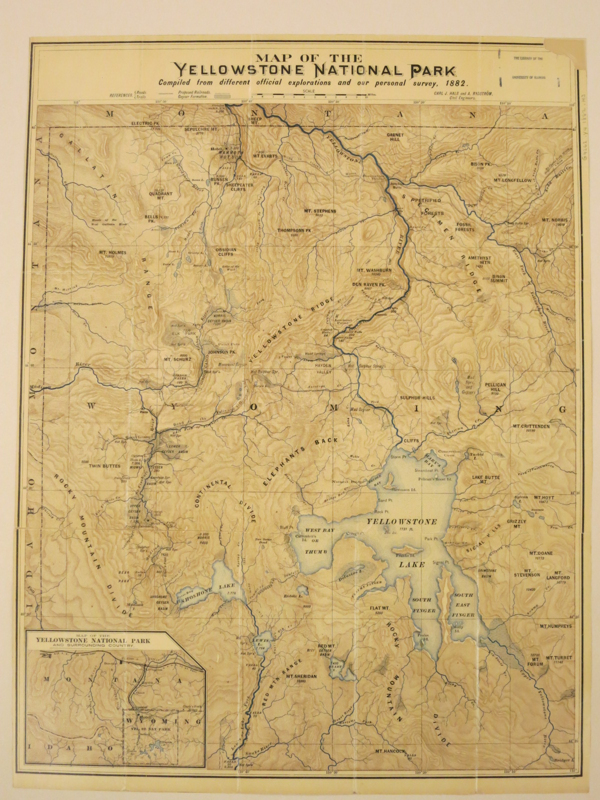 Map of the Yellowstone National Park   Map Library - University of ...