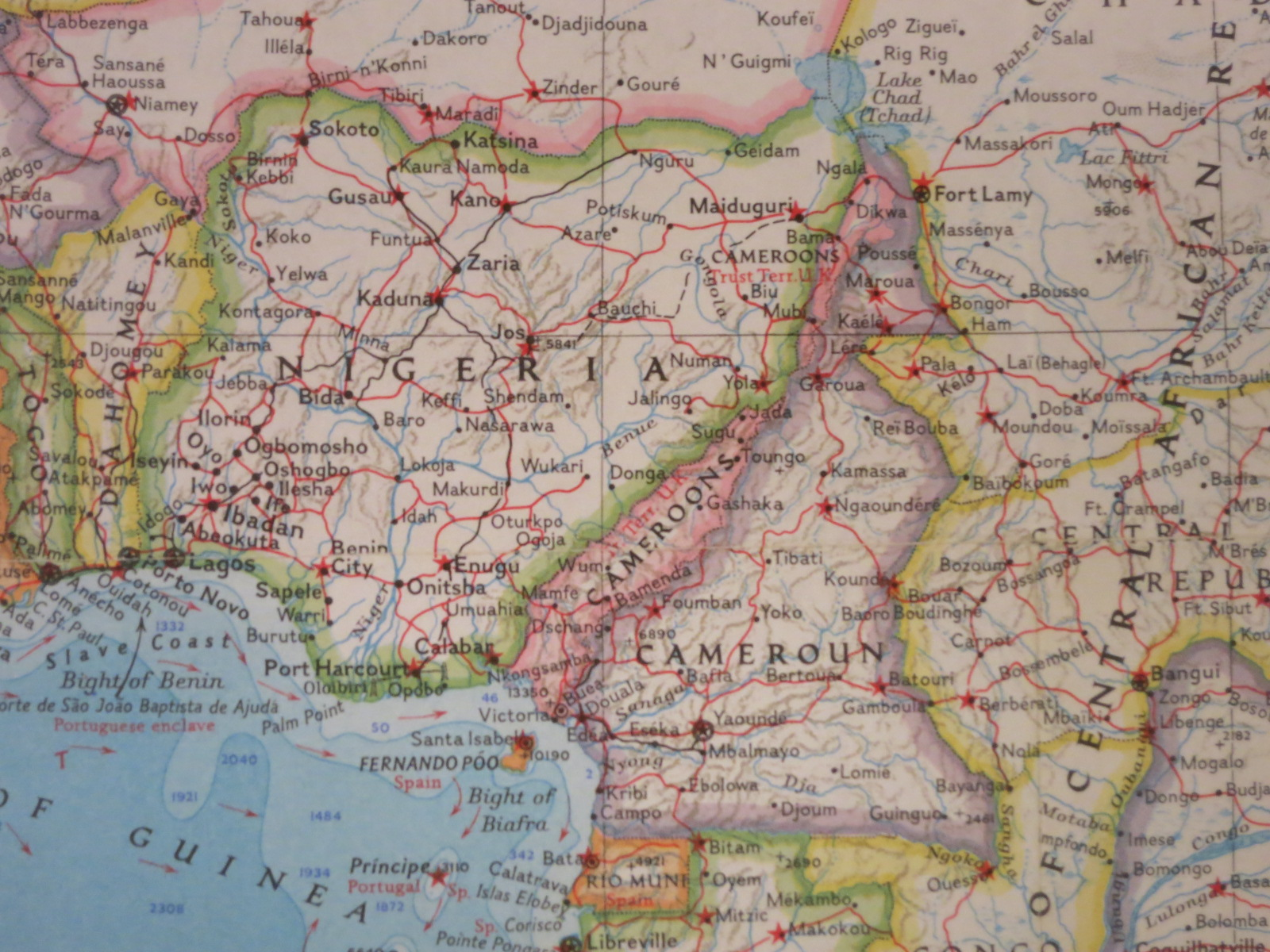 Nigeria cameroons and cameroun 1960 map library university of nigeria cameroons and cameroun 1960 gumiabroncs Gallery