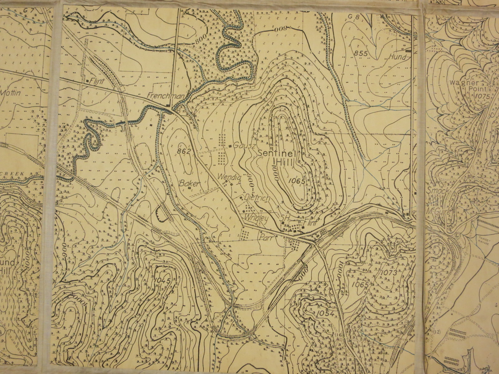 Sentinel Hill from Fort Leavenworth War Game Map | Map Library ...