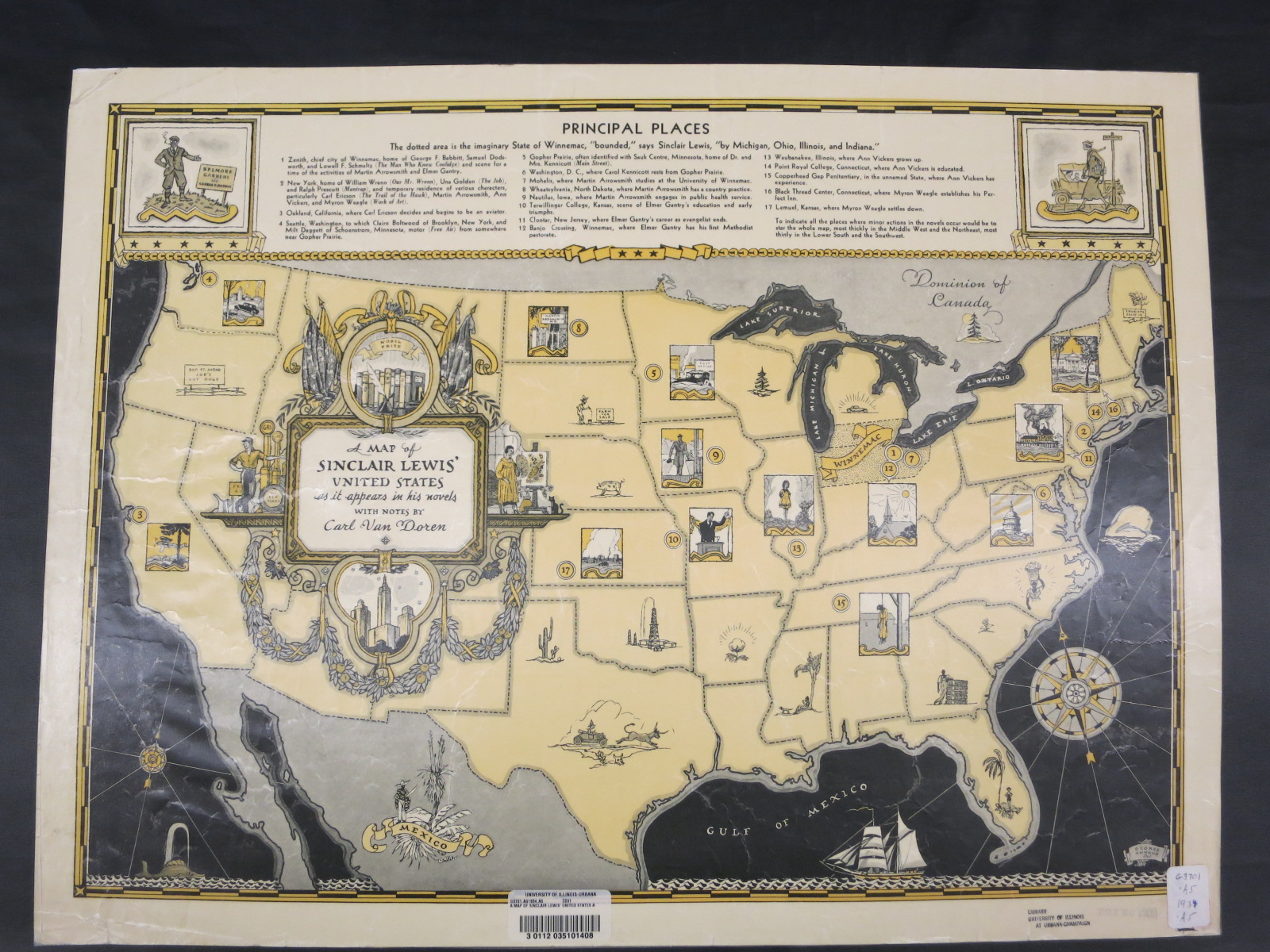 A Map of Sinclair Lewis' United States | Map Liry ... Sinclair Map on south suburban map, teapot dome scandal map, superior map, kemmerer map, dallas va medical center map, thomas map, sowa map, toledo map, richfield ct map, jefferson map, mountain view map, stetson map, chapman map, alpine map, romanov map, chevron map, davis map, georgia reservoir map, miller map, allatoona map,