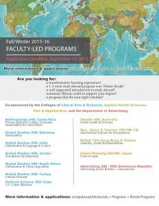 Fall_Winter 2015-16 Faculty-Led programs