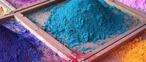 Pigments at an Indian market