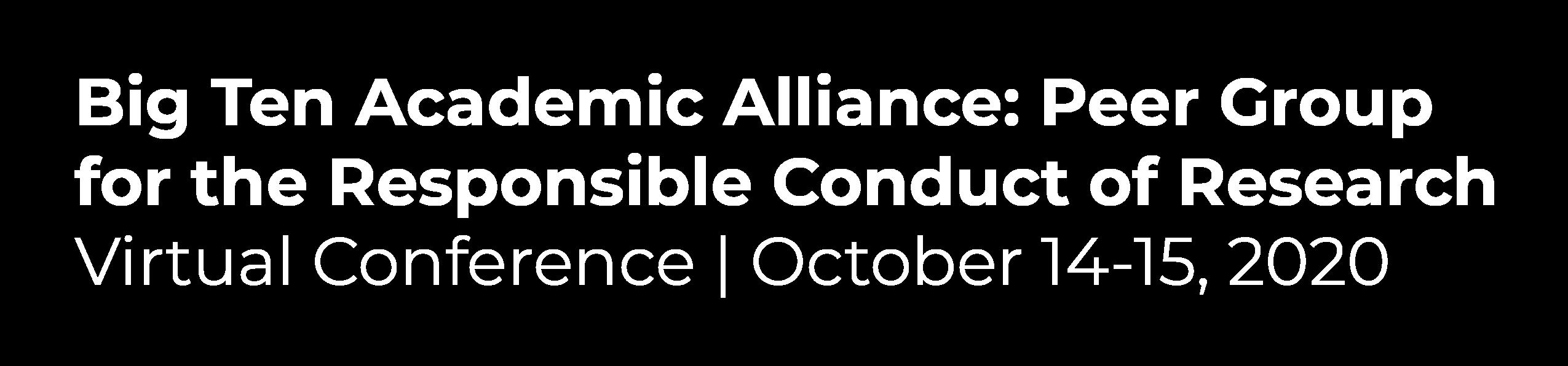 Big Ten Academic Alliance Virtual Conference
